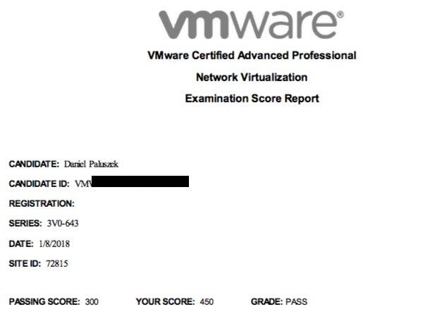 3V0-643 VMware Network Virtualization VCAP6-NV VCIX6-NV